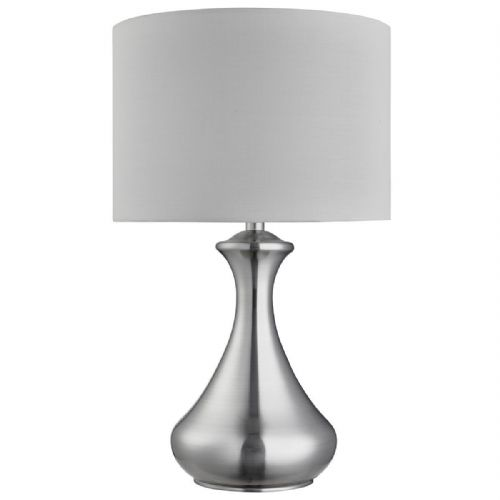 Touch Lamp - Satin Silver, White Shade 2750Ss (Class 2 Double Insulated)